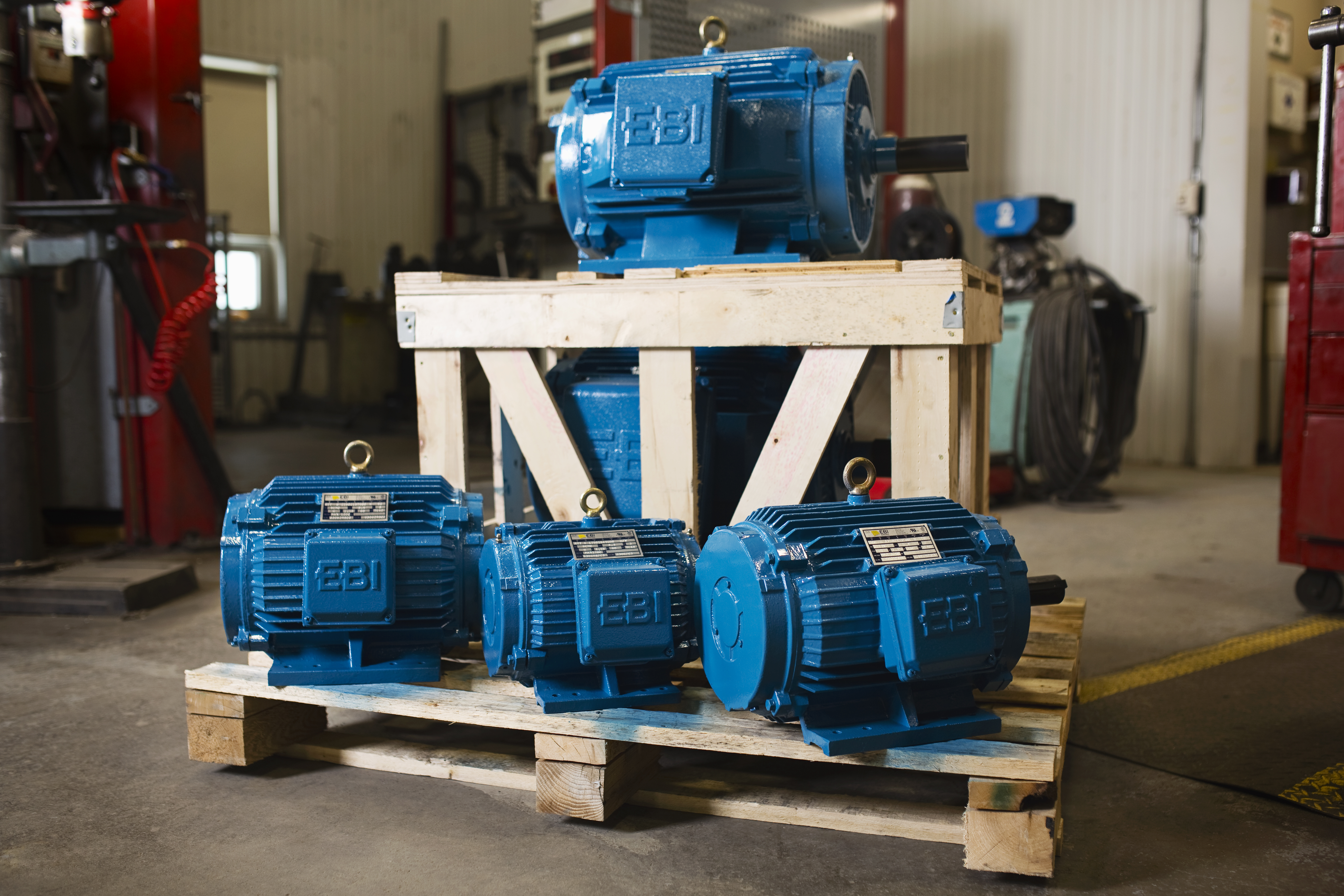 Electric Motors for Lumber Drying EBI