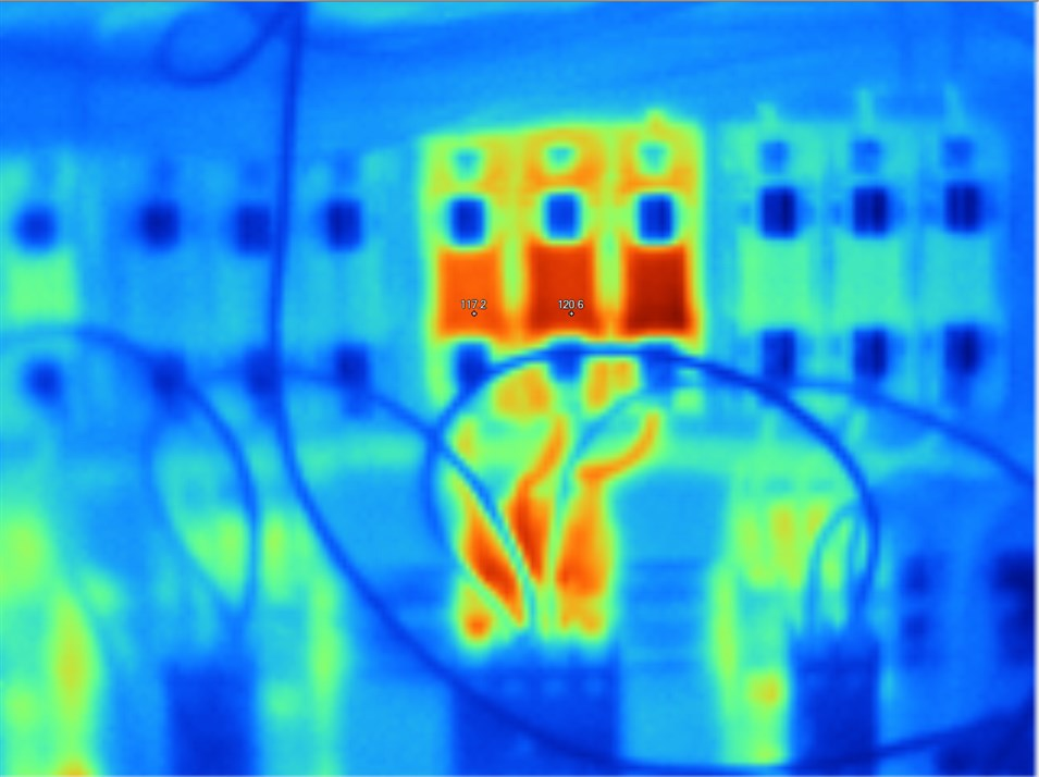 Infrared thermography and infrared imaging | EBI Electric on electrical safety, electrical instrumentation, electrical banners, electrical training, electrical insulation, electrical books, electrical construction, electrical flyers, electrical labels, electrical design, electrical thermographic survey, electrical home, electrical brochures,