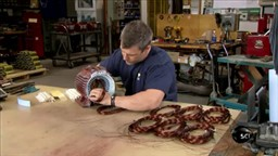 Copper wire overlap winding insertion into stator